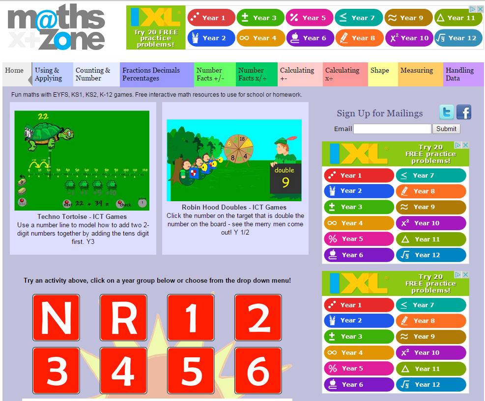 Days Lane Primary School - Maths Websites